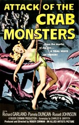 دانلود زیرنویس فارسی Attack of the Crab Monsters                          1957